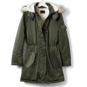 Banana Republic Winter Coat with Faux Fur Hood